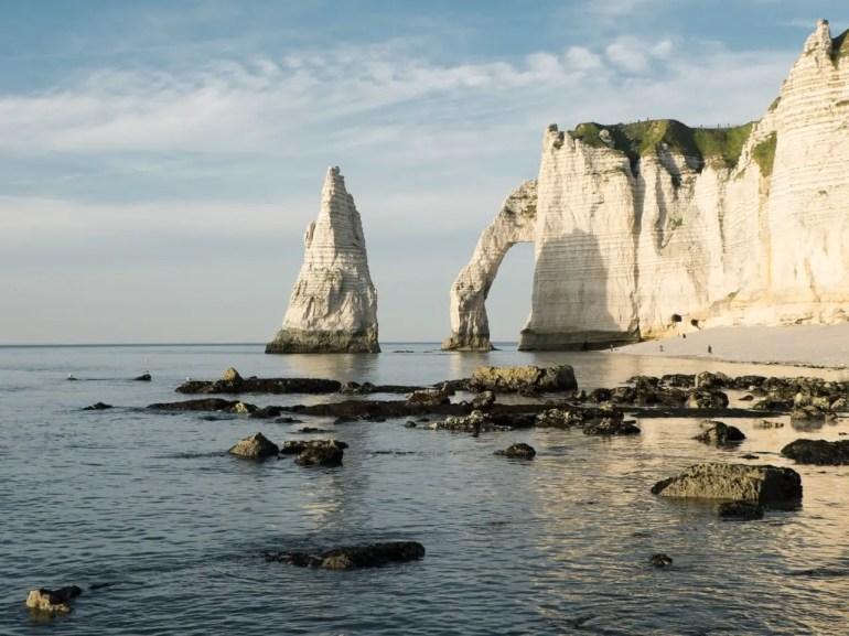 Falaises d'étretrat en famille - Normandie en famille