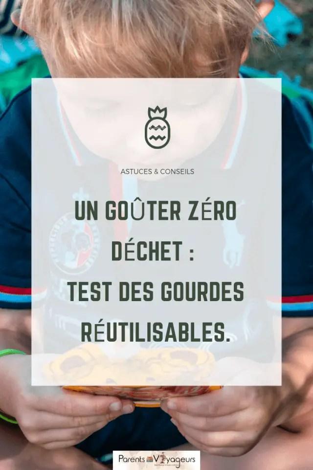 Un goûter zéro déchet : test des gourdes réutilisables.