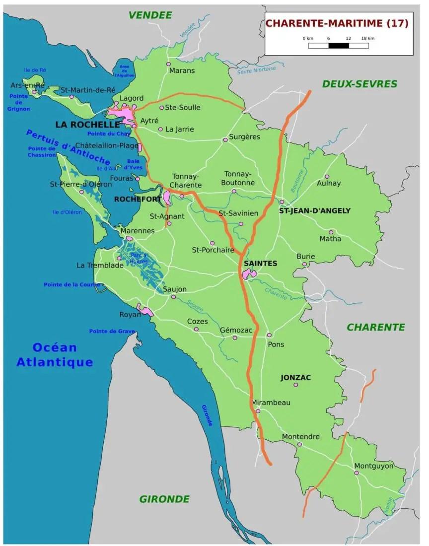 Charente-Maritime en famille - Carte