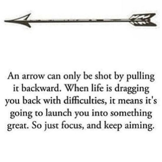 an arrow quote