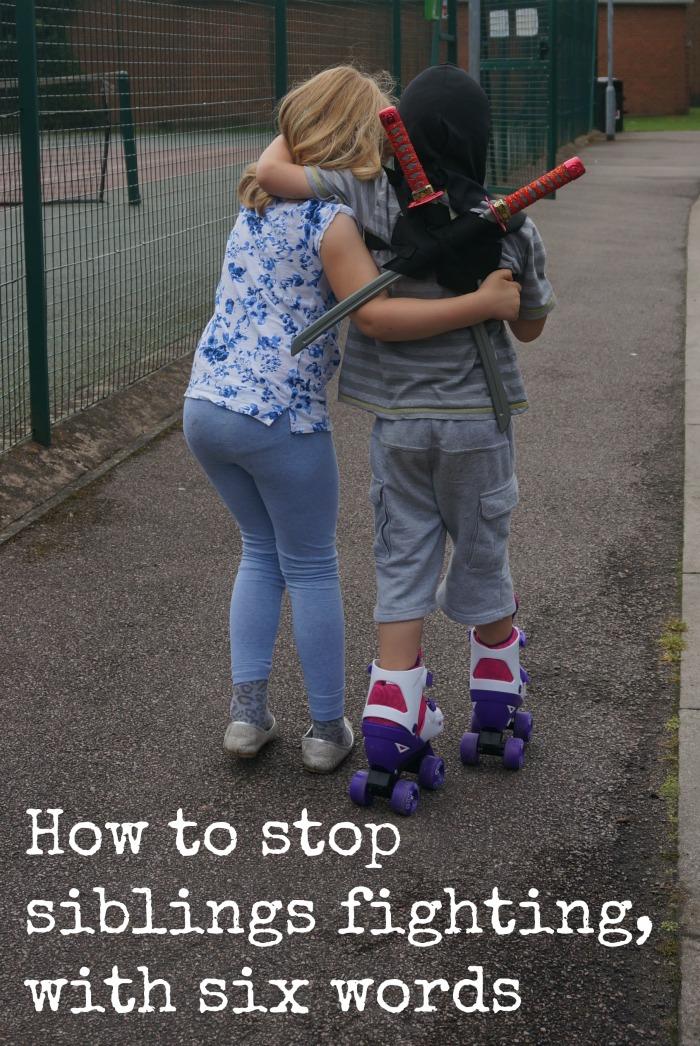 how to stop siblings fighting