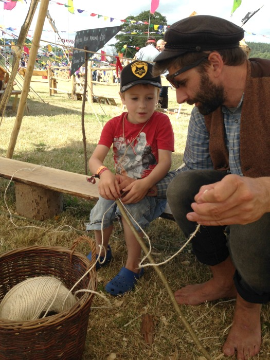 making a bow camp bestival