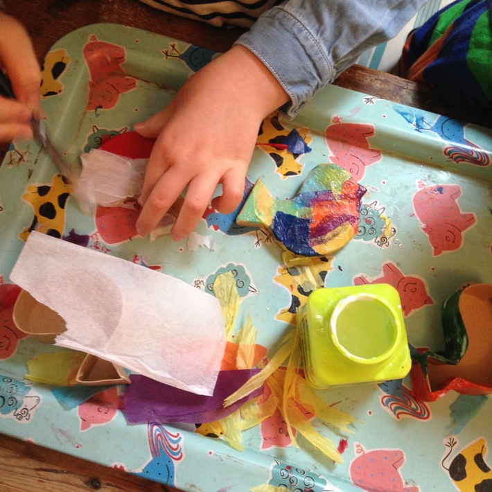 Making a decoupage bird shaped box with kits from Baker Ross