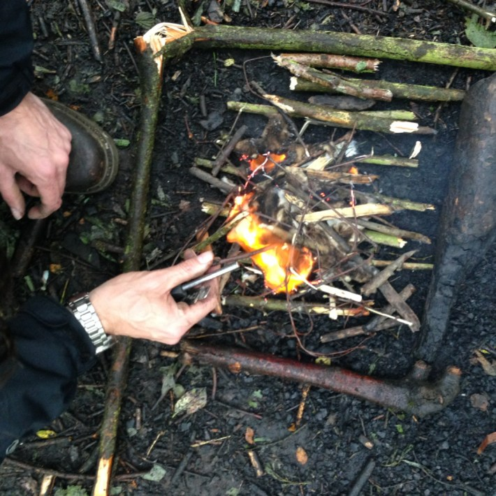 Conkers Centre, The National Forest, Bushcraft and Barefoot Trail