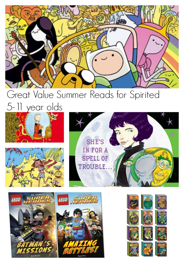 Great Value Summer Reads for Spirited 5-11 year olds