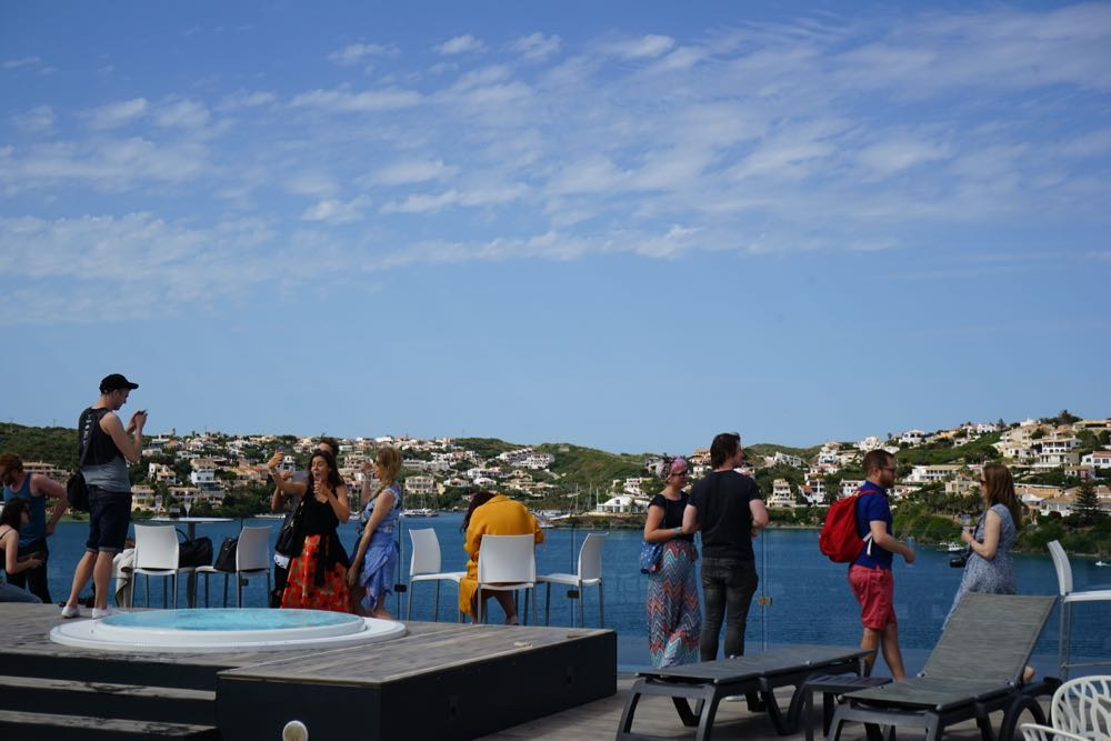 The rooftop of the Barcelo Hotel Menorca