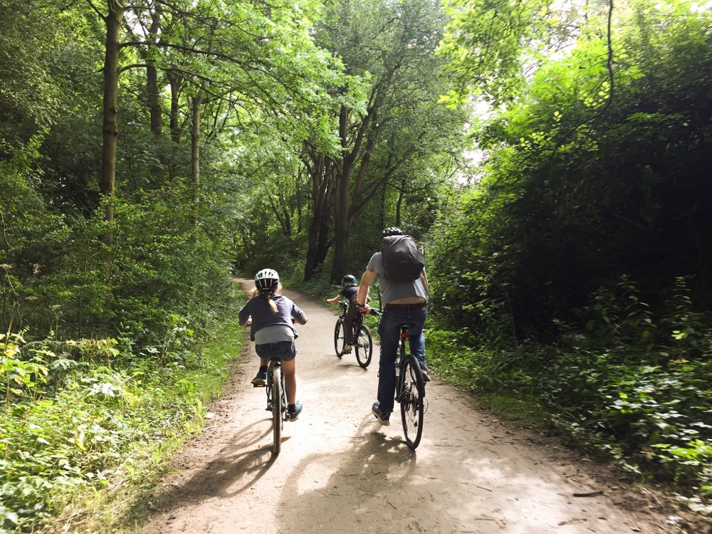 Family Camping and Cycling in the Peak District