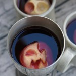Halloween Shrunken Apple Head Mulled Juice