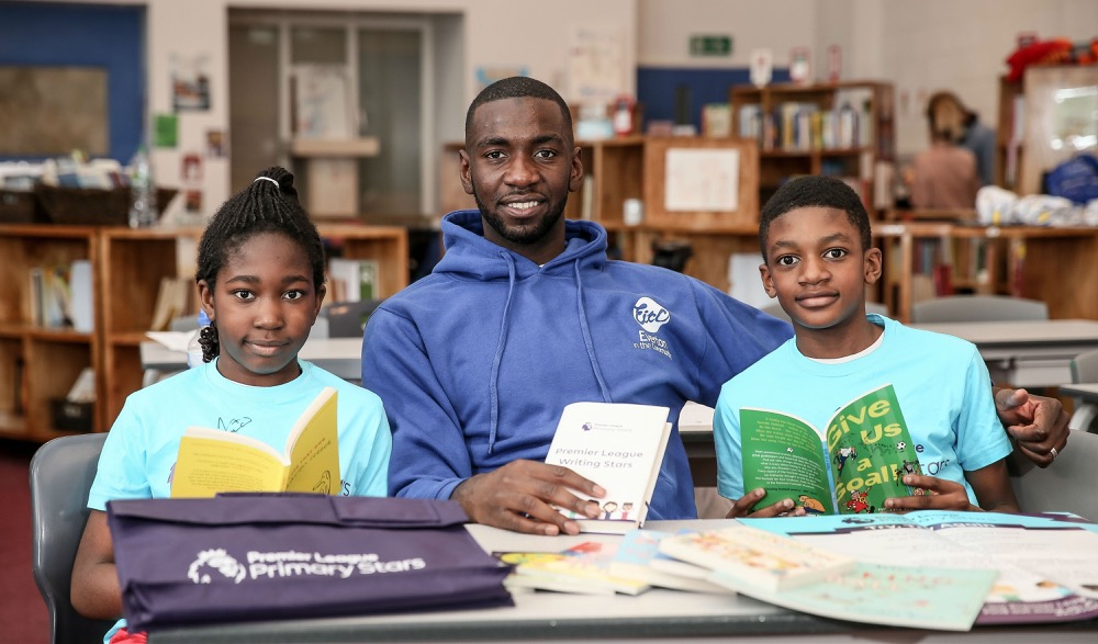 Yannick Bolasie + kids, Poems to Inspire Resilience: The Premier League Writing Stars campaign
