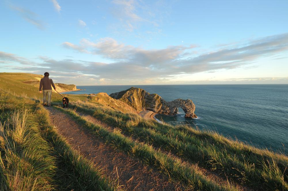 Walking the Jurassic Coast, Dorset. Durdle Door