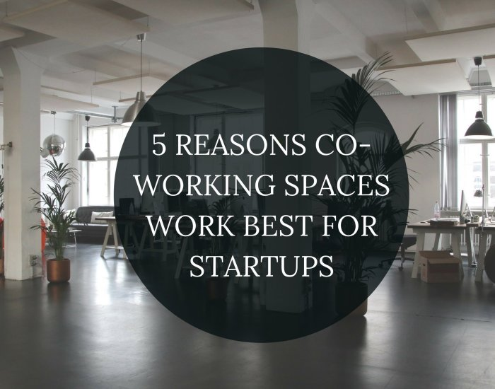 5 REASONS CO-WORKING SPACES WORK BEST FOR STARTUPS