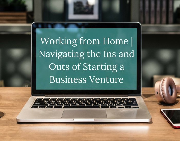 Working from Home | Navigating the Ins and Outs of Starting a Business Venture