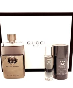 Gucci Guilty pour Homme Gift Set 90ml Eau de Toilette + 75ml Deostick + 15ml Travel Spray
