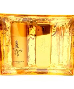 Paco Rabanne 1 Million Gift Set 100ml Eau de Toilette + 150ml Deodorant + 10ml Travel Spray