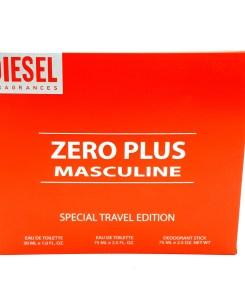 Diesel Zero Plus Masculine Special Travel Edition 30ml Eau de Toilette + 75ml Eau de Toilette + 75ml Deodorant Stick