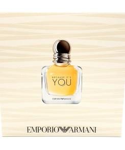 Emporio Armani Because It's You Giftset, 50ml Eau de Parfum + 75ml Shower Gel + 75ml Body Lotion