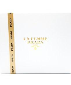 Prada La Femme Gift Set 100ml Eau de Parfum, 10ml Eau de Parfum Roll-On, 100ml Satin Body Lotion