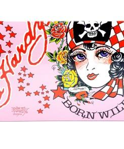Ed Hardy Born Wild for Woman Gift Set 100ml + 7,5ml Eau de Parfum + 90ml Shimmering Body Lotion + 90ml Bath & Shower Gel + Koffer Label