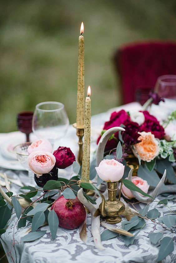 20 Charming Ideas For A Burgundyblush Wedding