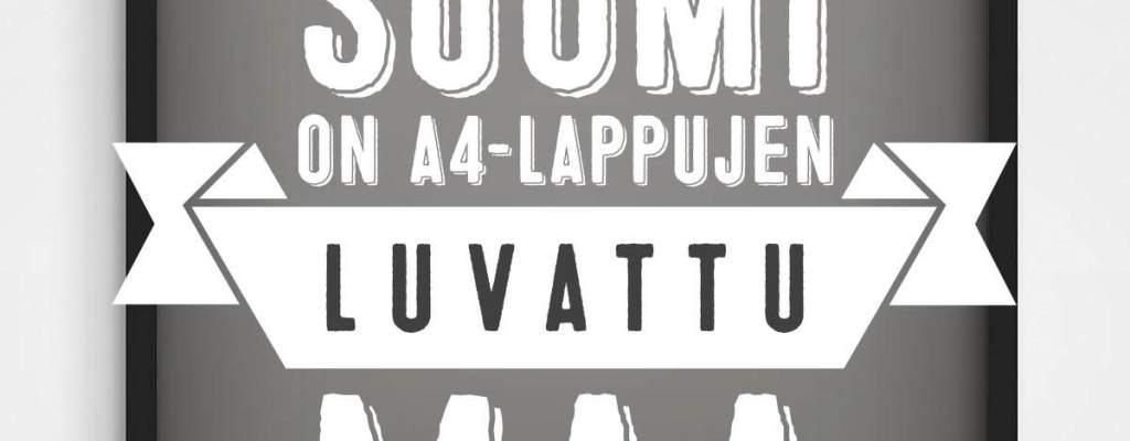 Suomi on A4-lappujen luvattu maa