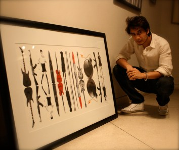 Ali-Zafar-Painting-for-Flood-Relief-5