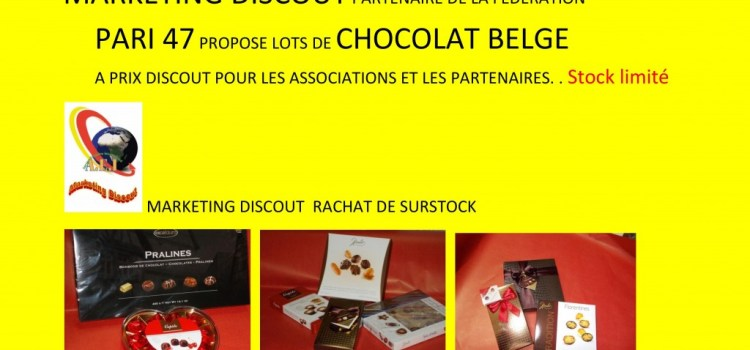 Lots de chocolats belges à prix «discout»