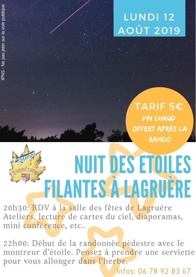 Nuit Des étoiles Filantes Pari47 Federation Des