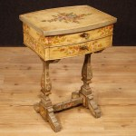 Details About Small Table Bedside Lacquered Furniture Living Room Italian Wooden Antique Style