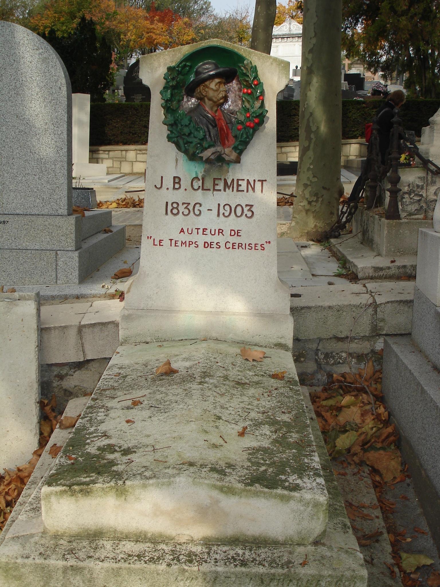 Tumba de Jean Baptiste Clément Pere Lachaise.