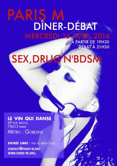Flyer Dîner/Débat n°80 - Sex Drug'n'BDSM