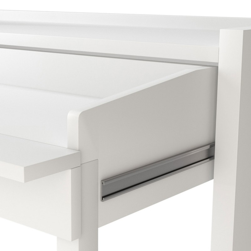 console bureau extensible lana 110cm blanc