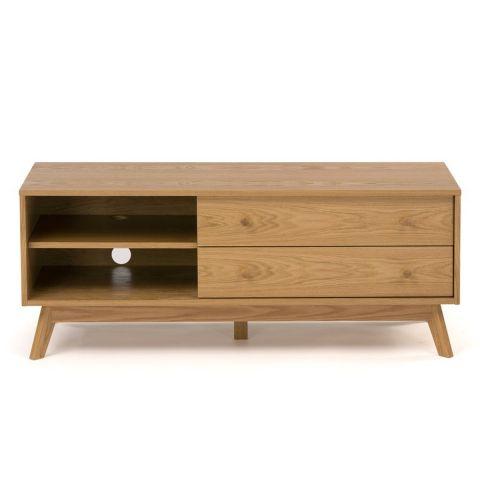 meuble tv design kensal 130cm chene