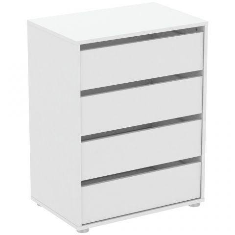 meuble de rangement 4 tiroirs pablo 60cm blanc