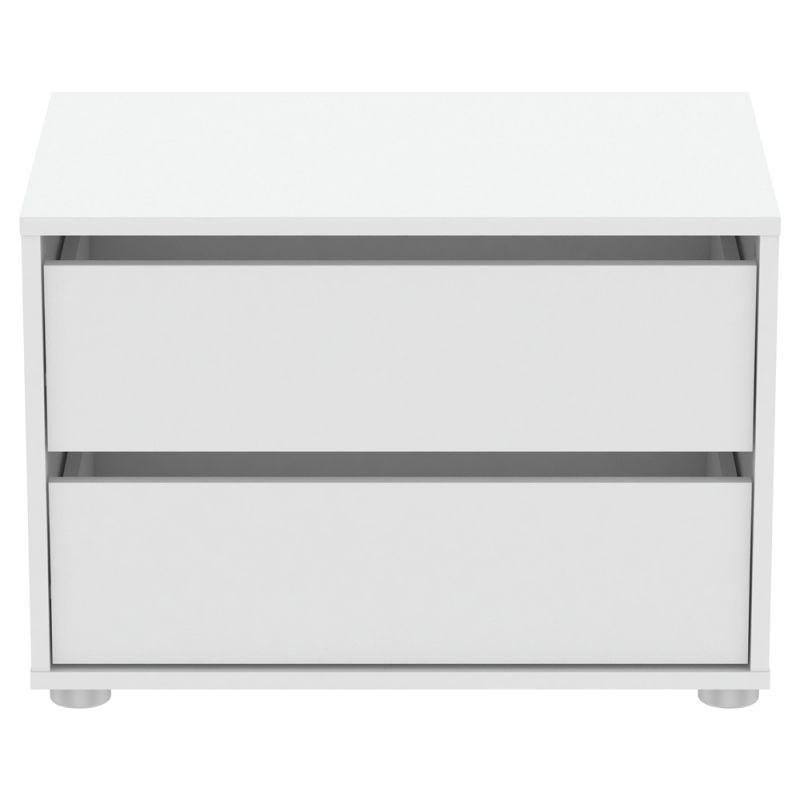 commode 2 tiroirs blokty 60cm blanc