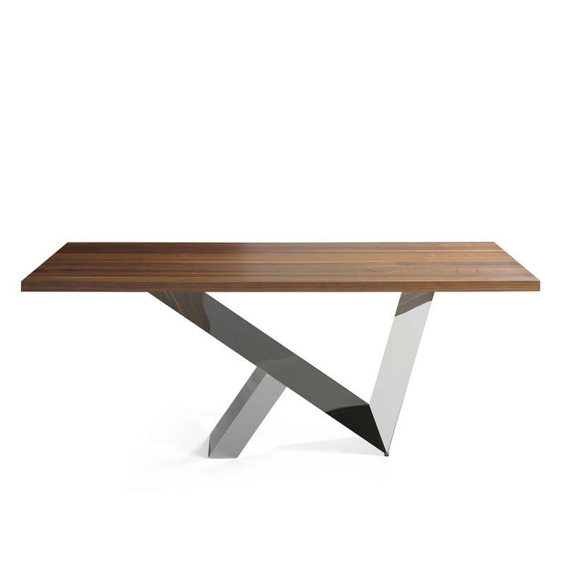 table a manger bois acier cora 200cm naturel