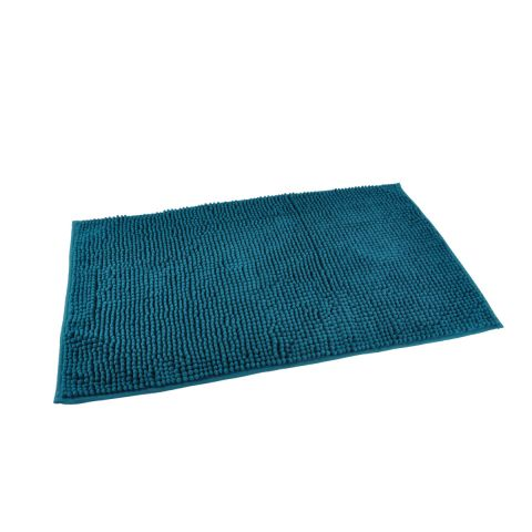 tapis de bain microfibre sweety 45x75cm bleu canard