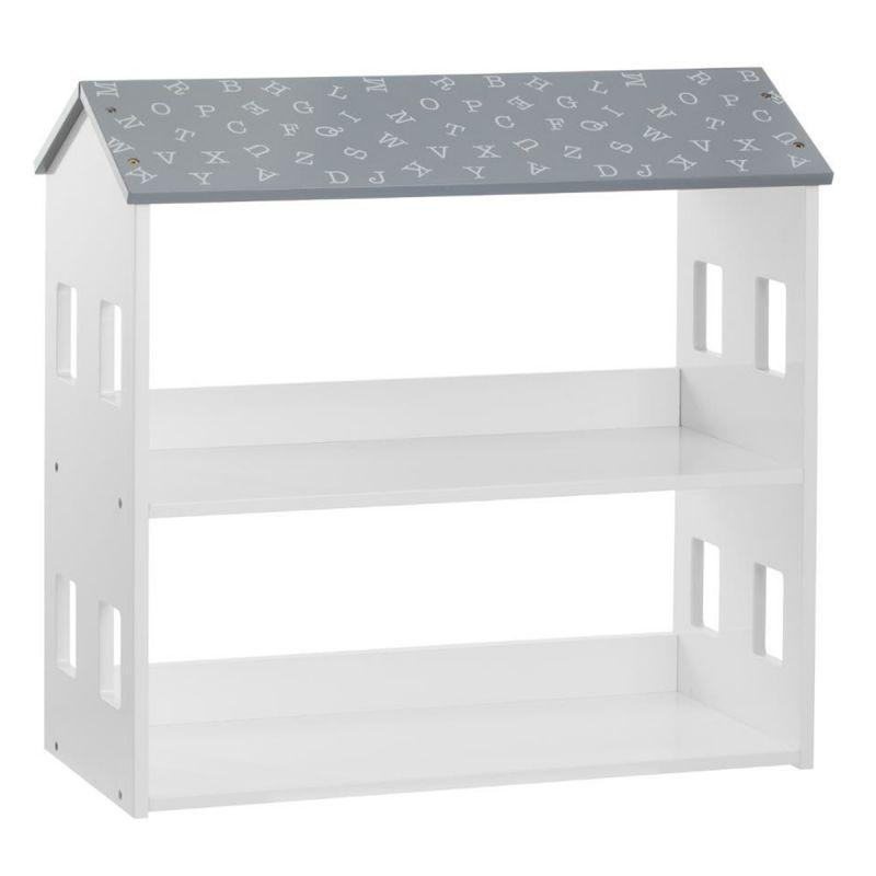 bibliotheque pour enfant maison 59cm gris
