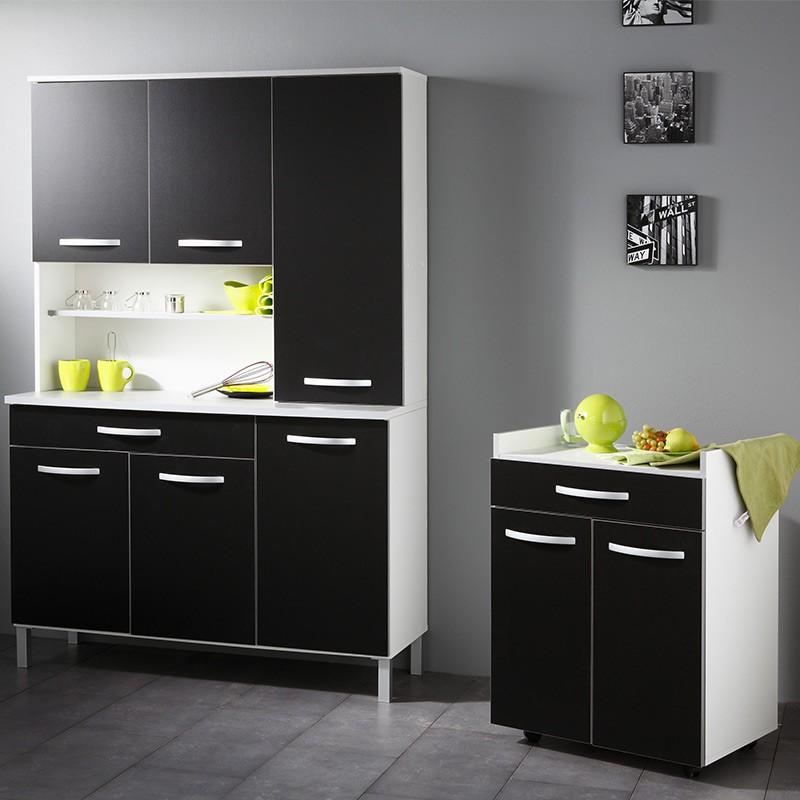 buffet de cuisine smarty 120cm noir