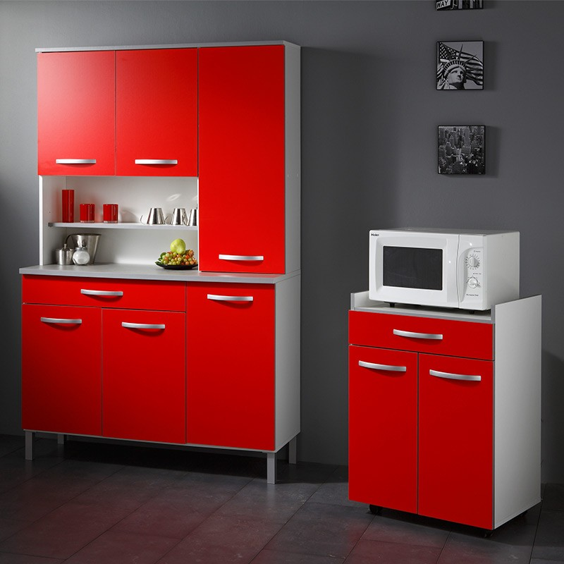 Buffet De Cuisine Smarty 120cm Rouge
