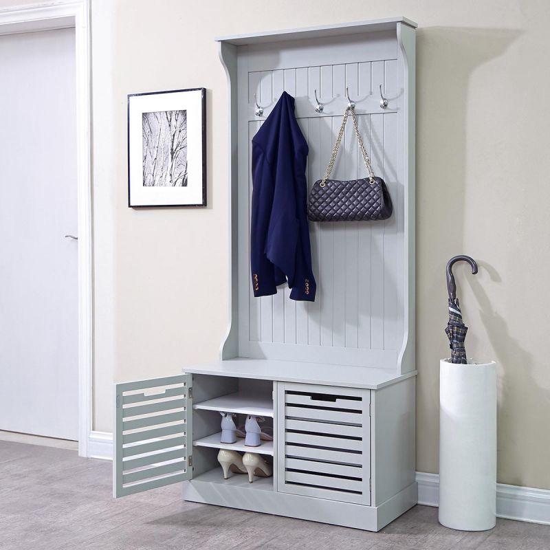 meuble d entree vestiaire kondo 180cm gris