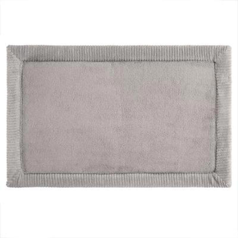 tapis memoire de forme salle de bains 50x80cm gris