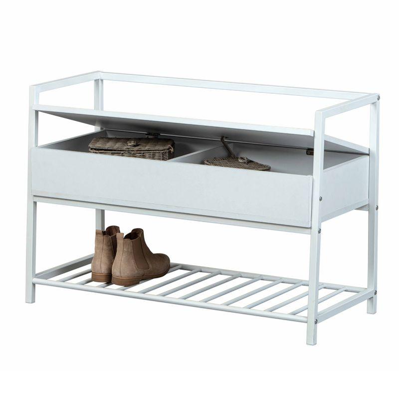 banc a chaussures design sofija 90cm blanc
