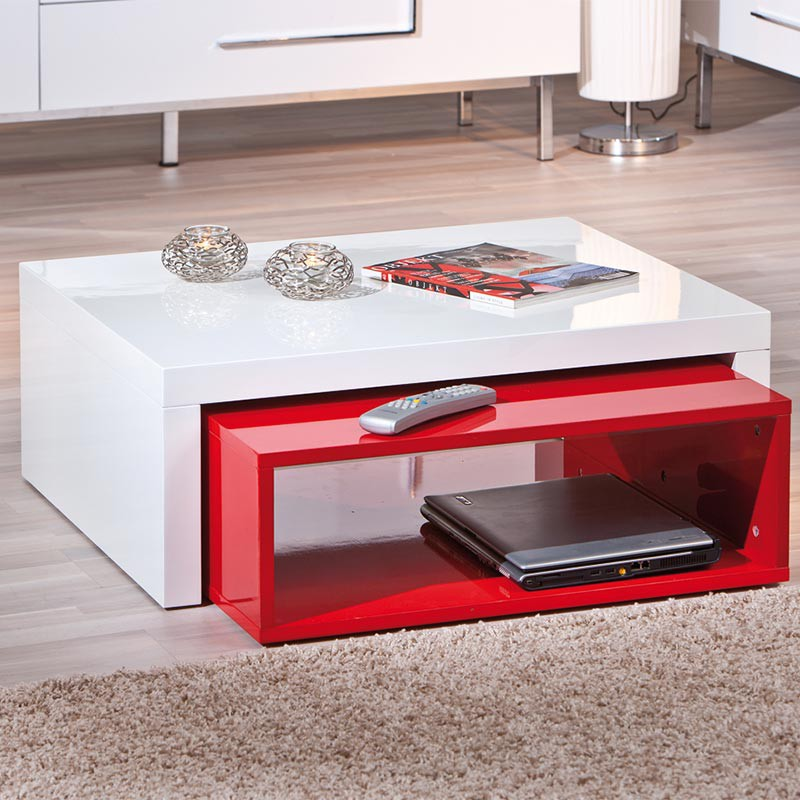 table basse windy rouge