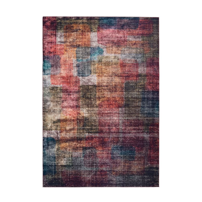 tapis moderne a poils courts galaxy iii multicolore