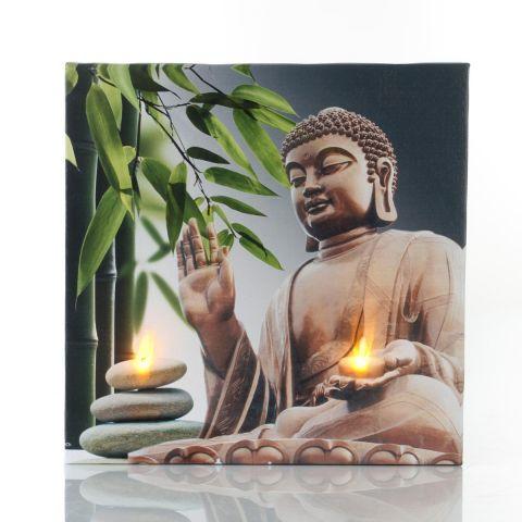 Toile Led 28x28cm Zen Bouddha N 3