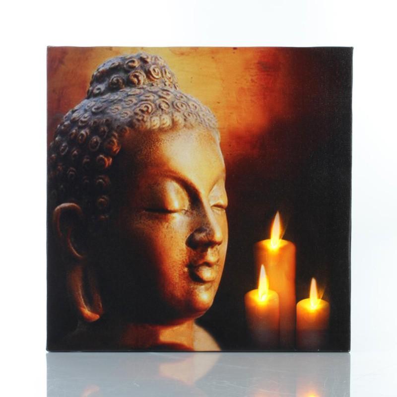 Toile Led 28x28cm Zen Bouddha N 4