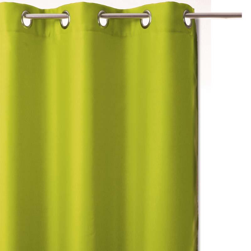 rideau occultant 140x260cm vert anis