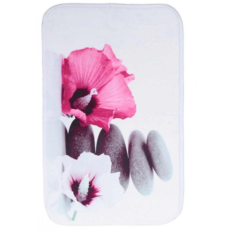tapis de salle de bain 70x45 cm zen rose