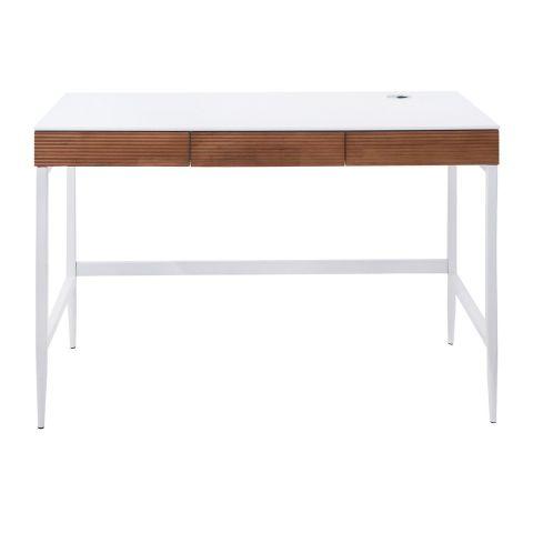 bureau design legno 110cm blanc naturel