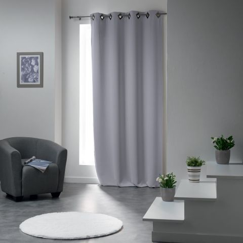 rideau occultant cocoon 140x260cm gris clair